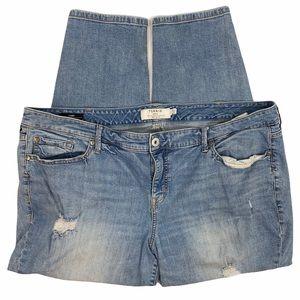 Torrid Distressed Light Wash 5 Pocket Skinny Jeans